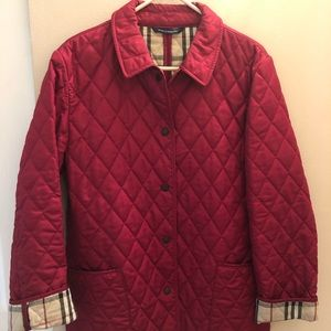 Burberry Quilted Jacket, Women's, Red